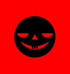 spooky smiley face vector image