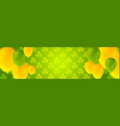 St patricks day banner with colorful balloons vector