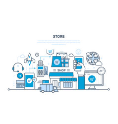 store and online purchase vector image