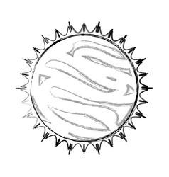 Sun isolated solar system vector