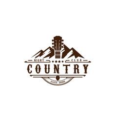 Texas mountain country guitar music western vector