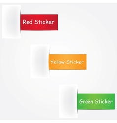 Three colorful stickers vector