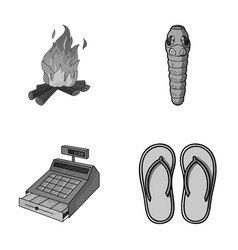 Tourism trade and other monochrome icon in vector
