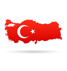 turkey map flag vector image