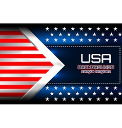 USA flag backgrounds template vector