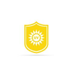 Uv protection icon anti ultraviolet radiation vector