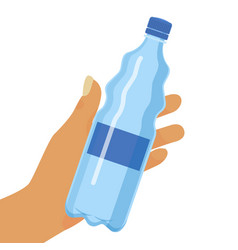 water bottle background hand vector image