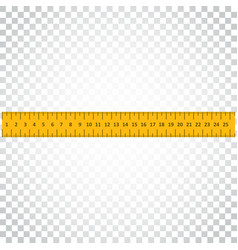 Yellow ruler instrument of measurement simple vector