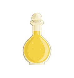 bottle with sunflower or olive oil organic and vector image