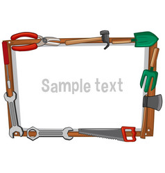 frame template with different tools vector image vector image