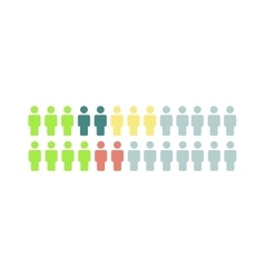 Social media people icons think different vector image