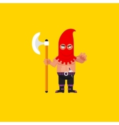a executioner character for halloween vector image vector image