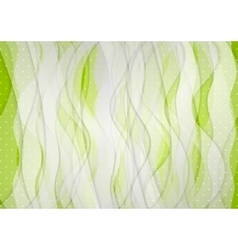 Abstract green white wavy background vector image