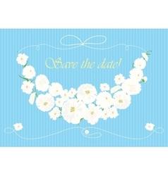 Beautiful garland of white flowers vector image
