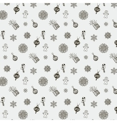 Christmas Doodles Seamless Background vector image vector image