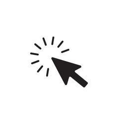 Click Icon Flat vector image vector image