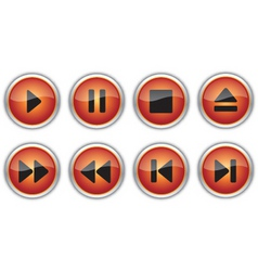 control navigation button icons vector image vector image