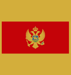 flag of montenegro vector image