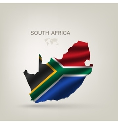 Flag of South African Republic to a country vector image