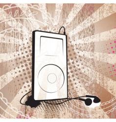 grunge MP3 vector image