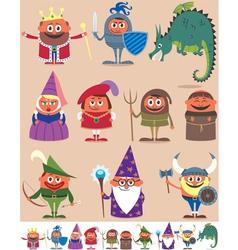 Medieval People vector image