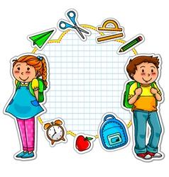 school collection vector image