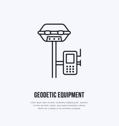 geological survey engineering flat line vector image vector image
