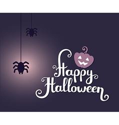 halloween with text happy halloween glowin vector image vector image