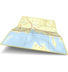 map folding vector image vector image