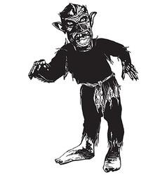 black ZOMBIE vector image vector image
