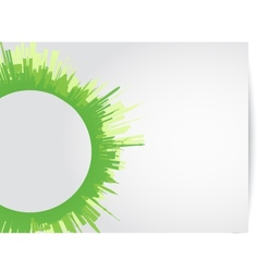 green city skyline rounded vector image