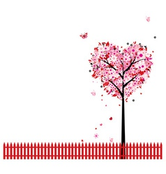 Heart Shape Tree Background vector image vector image