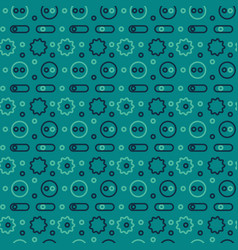 machine gone mad pattern seamless design vector image