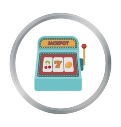 Slot machine icon in cartoon style isolated on vector image