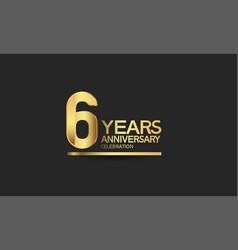 6 years anniversary celebration with elegant vector