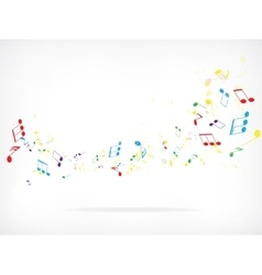 Abstract music background with notes vector image