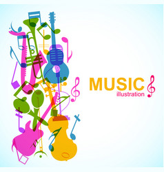 Abstract musical template vector