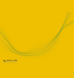 abstract yellow green style line wavy with free vector image