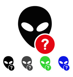 Alien status flat icon vector