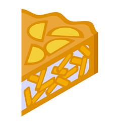 Apple pie slice icon isometric style vector