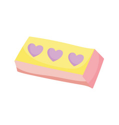 back to school rubber eraser supply icon vector image