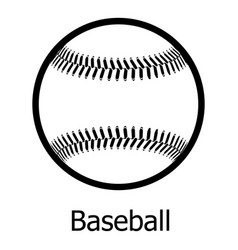Baseball icon simple black style vector