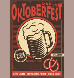 beer fest promotional poster design vector image