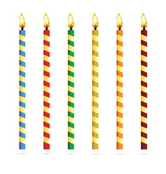 Birthday candles for cake vector
