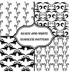 black-and-white abstract pattern vector image