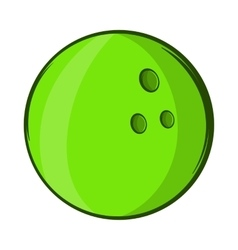 Bowling ball icon cartoon style vector image