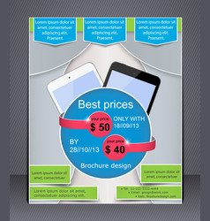 brochure digital devices vector image