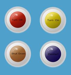 button 4 multi color vector image