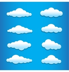 Cartoon clouds set vector