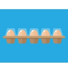 Chicken eggs in package vector image
